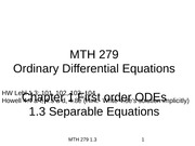 1.3 Separable Equations(2)