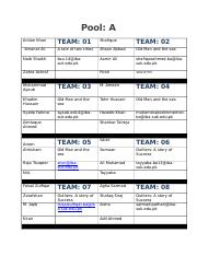 Team Pools for book reading competition