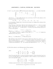 MATH 251 Assignment 6 Solutions