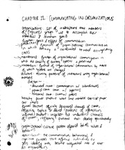 Communication in Organizations notes