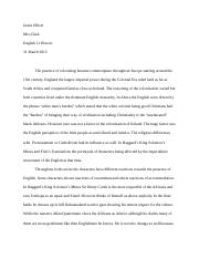 WRITING-ComparativeAnalysisofPost-ColonialLiterature-JustinElliott