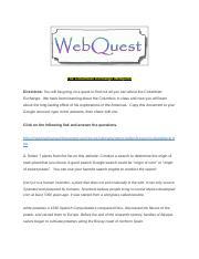 The Columbian Exchange Webquest- Isreal - The Columbian ...