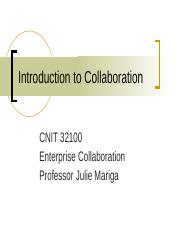 Overview of Collaboration