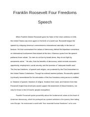Franklin Roosevelt Four Freedoms Speech.docx