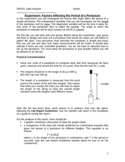 Lab - Factors Affecting a Pendulum