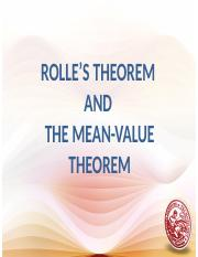 Rolle's Theorem Lesson 16
