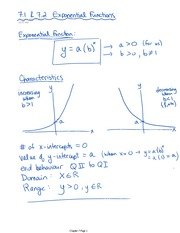 Exponential Function Notes