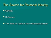 L16 - Adolescence Identity - Social Outline