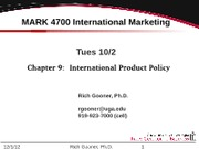 MARK 4700 Ch 9 International Product Policy v12-1001