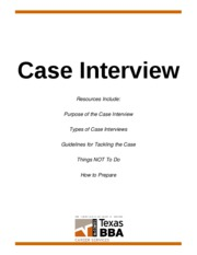 Case Interview Handout