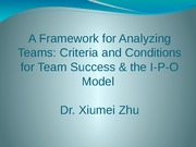 3.A framework for analyzing teams - Part 1