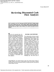 Reviewing Discounted Cash Flow Analyses