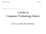 CST8174_Lecture_10_Introduction to SCSI and RAID