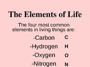 The Elements of Life notes