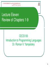 LectureXICECS130Exam1Review