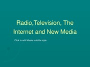 radio, tv and internet lesson 1