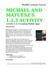 1.2.3.A CreatingMobileApps Michael n Mateusz
