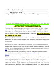 Alda-L1201-Research Paper Project-Annotated Bibliography.doc