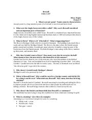 Beowolf lines 1-227 study guide