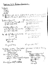 MATH 10 Fall 2009 3.2 Extra Practice Homework Solutions