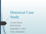 PSYCH 630 Case History