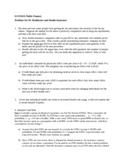 ECON411 Public Finance Problem Set #9 16Apr2013