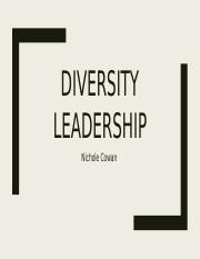 Diversity Leadership powerpoint