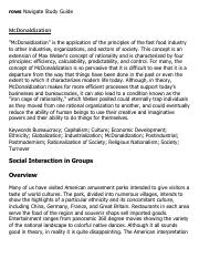 McDonaldization Research Paper Starter - eNotes