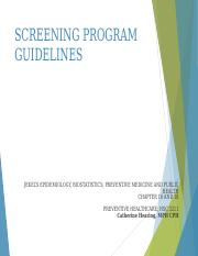 Screening Test Guidelines Online Updated
