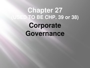 Chapter 27 - Corporate Governance (2013) (post)