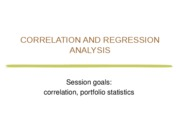 7. FIN 301-F09 Lab 7 Correlation and Regression Analysis