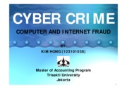 Cybercrime- Computer & Internet Fraud (fin present)