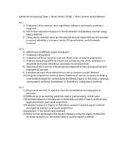 Advanced Accounting Exam 1 Study Guide