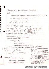 Exponential and Logarithmic Notes