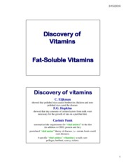 Lecture 14 - Fat soluble vitamins _JNA_-1