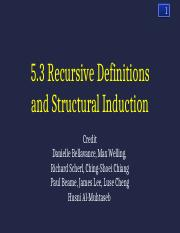 5.3RecursiveDefinitionsandStructuralInductionSec03