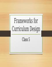 Frameworks for Curriculum Design-1
