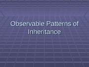 Lecture - Observable Patterns Of Inheritance