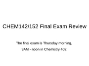 Chem Final Exam Review