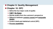 Operations Management Chapter 10 Quality Management
