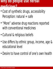 17-18 Why do people use herbal medicine.ppt