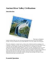Ancient River Valley Civilizations.docx