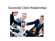 ADV 3310 - Successful Client Relationships