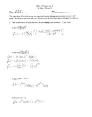 MTH 122 Practice Exam 2 with answers