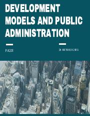 development models and public administration