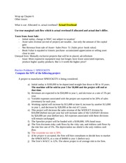 FIN 302- Exam #2 Class Notes
