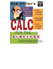 Calculus for the Clueless, Calc II - Bob Millers.pdf