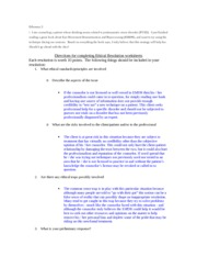 HDFS 2030 Dilemma 2 Practice Worksheet