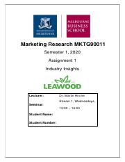 Marketing Research MKTG90011 A1 Industry Insights.pdf