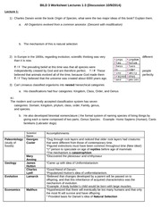 BILD 3 Worksheet Lectures 1-2 (With answers)